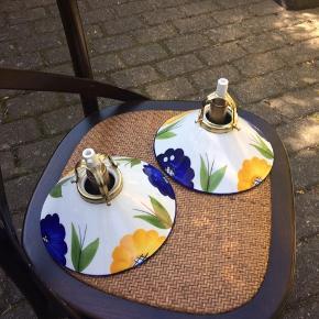 Fine porcelæn skomager lamper Har hængt over køkkenvask i sommerhus
