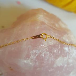 Ægte guld halskæde K18 stemplet 45 cm lang