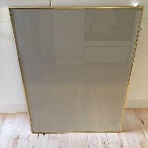 Guld ramme speciel lavet. 80 høj og 60 bred