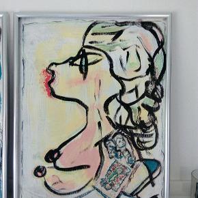 Dejligt maleri med ramme uden glas. Str. 40 x 50 cm T.By.Art Se mine andre malerier i mine andre annoncer
