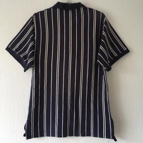 Blå og hvid stribet polo t-shirt fra Stanfield, str. L/42