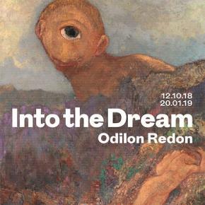 Odilon Redon (Le cyclope, ca. 1914) ~ Into the Dream, Glyptoteket, 2018.  kunstplakat.  Mål: ca. 84x59,5 cm.   Fast pris.  Mødes og handle på Nørrebro på hjørnet af Jagtvej og Husumgade. - Sender ikke.  Bytter ikke.