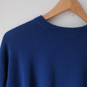 Navy/kongeblå strik/sweatshirt :-) - fitter som unisex