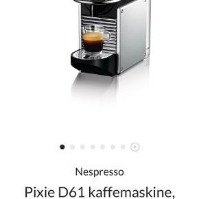 Rigtig god Nespresso kaffemaskine til kapsler. Fejler ingenting og er næsten lige afkalket. Er købt i Magasin og har kvittering. Den fylder ikke meget og leveres i original kasse.   BYD gerne :)