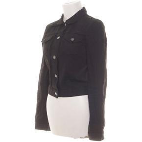 Samsø Samsø sort kort denim jakke