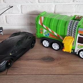 garbage truck og racing porsche Flot stand Pris 80 dk pr stk