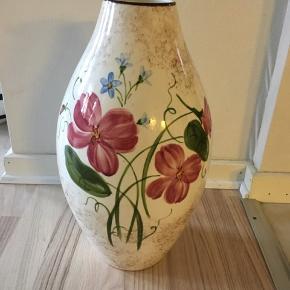 Gammel næsten antik 40 cm høj Knabstrup vase fra år ca 1930 Fejlfri uden skår eller revner BYD