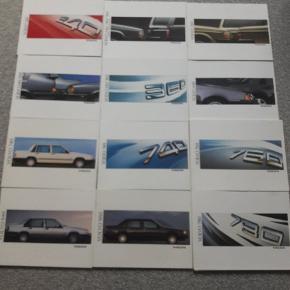 Volvo brochurer  12 stk. Næsten som ny  Fra røgfrit og dyrefrit hjem  350 kr ialt
