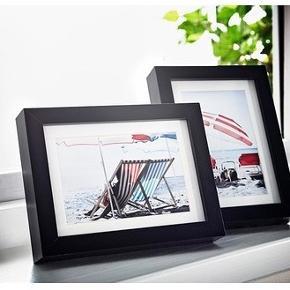 "3 IKEA Cadre, noir, 13x18 cm  Art Card Vegetable 8-Pack ""Anvandbar""Print Flower Bee Chevron Man - size 13x18 cm (5x7"")"