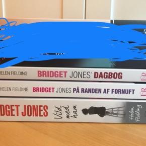 Bridget Jones bøgerne (1-3), alle tre læst én enkelt gang og fremstår derfor som nye. Sælges gerne samlet.   Kom gerne med et bud. Kan afhentes i Aarhus eller sendes på købers regning.