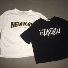 2  korte t-shirts i bomuld