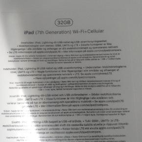 IPad 7. Generation 32 GB i uåbnet æske