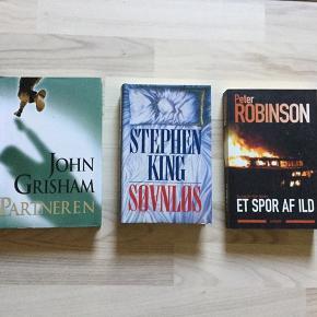 Stephen King, Søvnløs Peter Robinson, Et spor af ild John Grisham, Partneren 30 kr pr stk