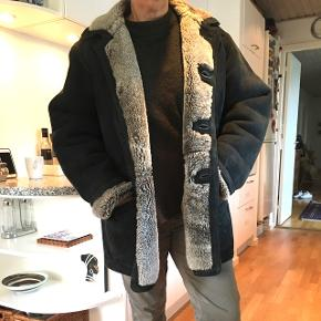 90er frakke i god stand - rulam og læder