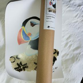 Lille plakat med søppegøje, af færøsk kunstner. Købt på Færøerne i sommer