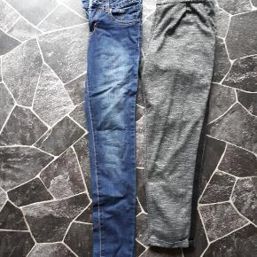 Str 14år... 80 kr pr del, samlet 150 kr... Begge par købt i Nielsen.. Jeans ny pris 349 kr.. Buks ny pris 249 kr.. Uden slid og mærker.. Yderst velholdt.