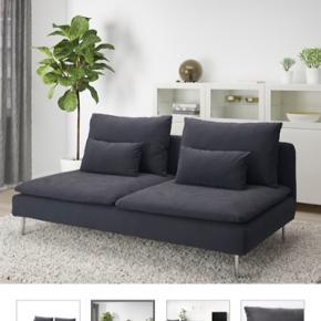 Mørkegrå ikea sofa, söderhamn, fejler intet, dog anbefaler jeg at købe nyt betræk. Fejl i vaskemaskinen og har derfor mistet farve. Prisen er ikke til forhandling ☺️