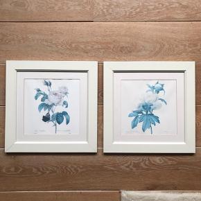 Fine blomster billeder str 36-36 cm. Gi et bud 😊