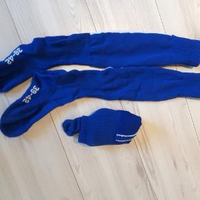 str. 39-42 To sæt fodboldstrømper, blå