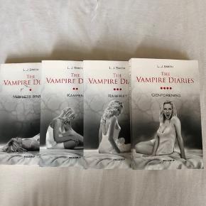 Ny pris par bog 175 kr  Jeg sælger disse skønne bøger da jeg har læst dem en gang og nu står de bare og samler støv.  En bog 50kr  Alle 4 bøger 150kr  Køberen betaler fragten som ikke er inkluderet i prisen.