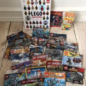 LEGO blandning, Bog om LEGO, LEGO poser med Star Wars, Ninjago, Super Herdes plus lidt forskeligt.