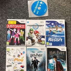 Forskellige Wii spil, sælges både samlet eller hver for sig. Kom gerne med et bud ☀️