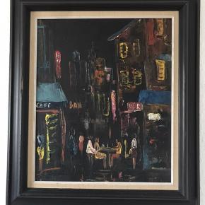 Flot maleri... jeg kender ikke kunstneren  Alder ukendt Mål med ramme 63.5 x 55.5 cm Billede 46.5 x 38.5 cm