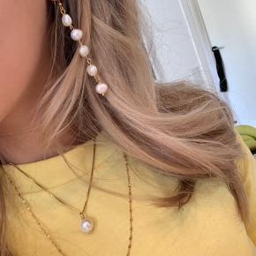 Samantha Necklace 🧡 18k guld kæde. Ægte perle.  Kædelængder: 35 / 45 / 55
