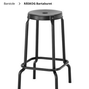 To stk. Barstol fra ikea, begge til 200 kr. Ny pris: 249 kr. Pr stk.
