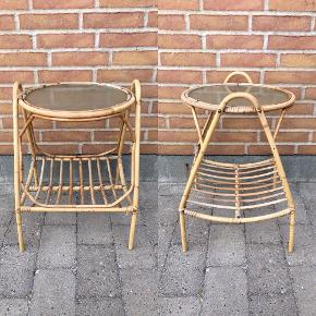 Super flot bambus bord med magasinholder under.  225 kr.  SKAL hentes i Snejbjerg ved Herning.