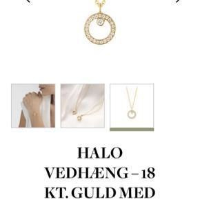 Fantastisk smuk og enkel halskæde fra Georg Jensen Halo serien, som er lavet i samarbejde med Sophie Bille Brahe. Lavet i 18 karat guld med 0,06 carat pavéfattede diamanter. Halskæden er kun båret en dag.  Har desværre fortrudt mit køb, men returfristen er udløbet. Alt medfølger.