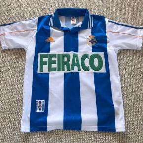 Retro Deportivo La Coruña hjemmebane trøje i str. Small.