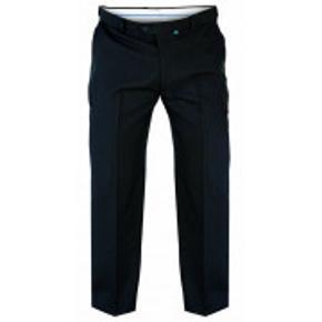 PLUS SIZE - MÆND Sorte formelle bukser i størrelse 68S (68W L30) fra D555. Aldrig brugt, stadig med mærke. 100% polyester Se mere på: https://www.bigclothing4u.co.uk/max-d555-side-adjustable-waist-trouser-ks1404