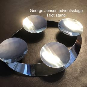 Flot adventsstage fra Georg Jensen I børstet stål Nypris 899 kr Er brugt ganske lidt