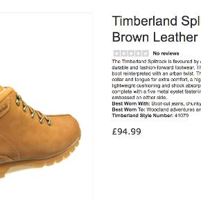 Super lækre Timberland støvler i læder, str. 42,5.   Størrelsen hedder 9 M, 42,5. Ægte læder, meget fin stand. Ser ud som nye. Forsendelse 50 kr til pakkeshop.   https://www.tower-london.com/timberland-splitrock-mens-brown-nubuck-leather-ankle-boots-41079   The Timberland Splitrock is favoured by adventure enthusiasts in search of comfortable, durable and fashion-forward footwear. The Splitrock models itself on a classic hiking boot reinterpreted with an urban twist. The Man's leather ankle boots comprise a padded collar and tongue for extra comfort, a high-traction rubber sole an EVA footbed for lightweight cushioning and shock absorption, to enhance performance. The boots come complete with a five metal eyelet fastening, rubber toe bumper and the Timberland logo embossed on either side. Best Worn With: Boot-cut jeans, chunky knitwear, plaid shirts, duffle coats Best Worn To: Woodland adventures and urban escapades... Timberland Style Number: 41079