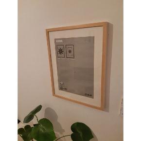Lys træramme Til motiv 40 x 50 cm eller 29x39 cm