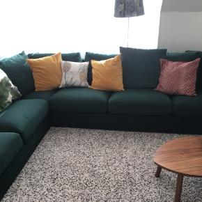 The sofa is one year old from IKEA. It is possible to separate it in two, one of 2 seats other of 3. I am selling it because of reallocation. We have been quite happy to have it, it is absolutely comfortable. From non smoking home.