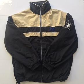 Vintage Helly Hansen Shell jakke Sort / beige / blå Fitter XL