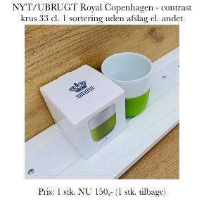 NYT/UBRUGT Royal Copenhagen - contrast krus 33 cl. 1 sortering uden afslag el. andet   Pris: 1 stk. NU 150,- (1 stk. tilbage)   Se også over 200 andre nye produkter, som jeg har til salg herinde :-)