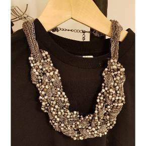 Stor tung chunky halskæde brugt er par gange.. Pifter et hvert outfit op