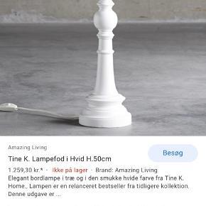 Så fin Tine K lampefod - tilhørende lampeskræm også :)