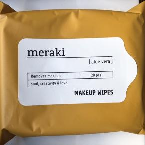 Meraki rense servietter, makeup remover servietter. Aloe Vera.  Helt nye og uåbnet.   12,- + fragt. Sender med Dao eller PostNord på eget ansvar. Bytter ikke.  Mængderabat.