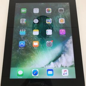 iPad 4 16gb wi-fi Retina skærm Model nr.A1458 Alt virker %100 og holder rigtig godt. Der ikke følger oplader med.Men følger magnetic sort cover. Er nulstillet og klar til en ny glad bruger. Afhentes på Vallensbæk.eller sendes.