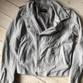 Silverblack pels- & skindjakke
