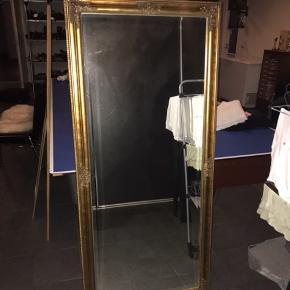 ✨ Gammelt stort antik spejl i rigtig fin stand  - kan afhentes i Aarhus C ved køb