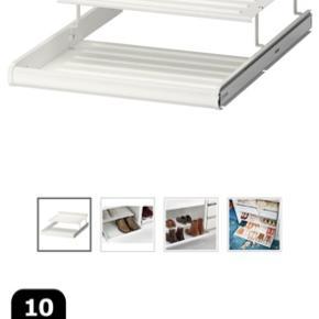 Udtrækkelig skohylde fra IKEA, fejler intet. Passer til PAX garderobeskab 50cm.  Sendes ikke.