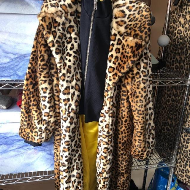Ganni Ferris Faux Fur Leopard Jakke