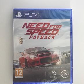 Helt nyt NEED FOR SPEED PAYBACK spil til PS4 stadig i original emballage.  købt i power for 499 kr.