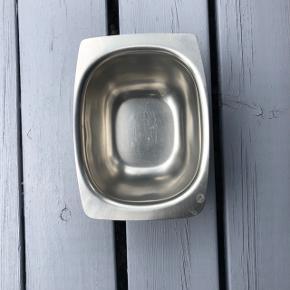 Retro sovseskål i rustfrit stål i fin stand