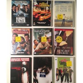 Dvd film - nogle stadig i indpakning. Alle er aldrig eller stort set ikke brugt. 10 kr. pr. stk.